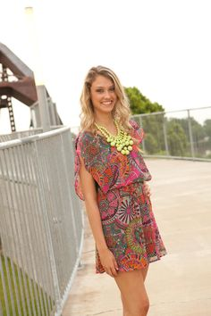 Kaleidoscope Dress! Now available at biminibutterfly.com