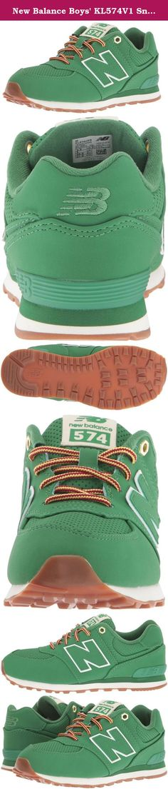 New Balance Boys' KL574V1 Sneakers, Green, 9.5 M US Toddler. Probably the most famous shoe in New Balance history. The 574 is a clean and classic die cut EVA runner that utilizes ENCAP cushioning technology.