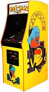 There was a pacman machine at the pizza and sub shop in grand haven that Jay and I used to play with. One time it was broken and we got unlimited play :)