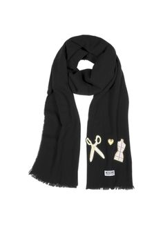 Moschino Cheap and Chic Artelier Wool Fringed Scarf. EcharpeFoulardÉcharpe  ... 9e880d63be3