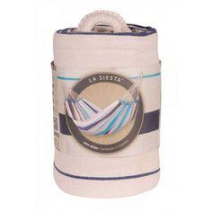 Uberlegen CARIBEÑA Aqua Blue   Blau Gestreifte Single Tuchhängematte Von La Siesta  Unter Https:/