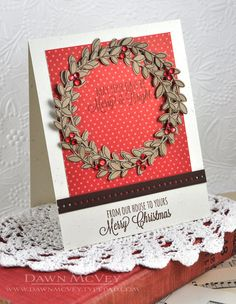 From Our House To Yours Card by Dawn McVey for Papertrey Ink (October 2013)