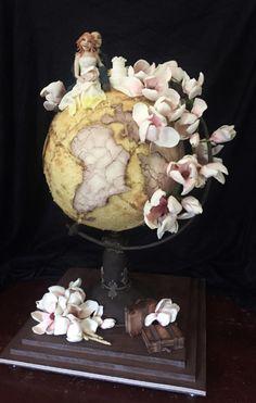 Globe Wedding Cake by Dorothy Klerck