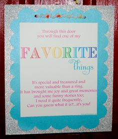 My Favorite Things Party by Made By A Princess