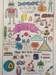 Portadas 📖🖌🖌 Science Notebook Cover, My Notebook, Dream Journal, Diy Back To School, School Notebooks, Felt Owls, India Art, Decorate Notebook, Study Notes