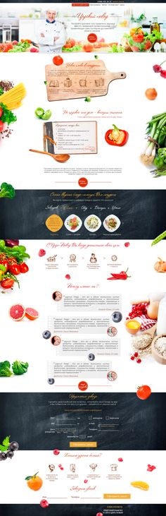 Proyecto Food by Kate Momotova, a través de Behance