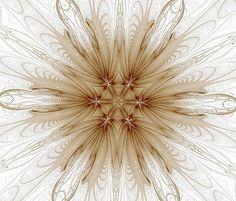 Misty Brown Mandala by Barbara Lane #mandala #kaleidoscope #fractal