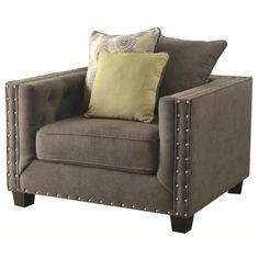 Coaster Kelvington Upholstered Chair with Nail Head Trim - Coaster Fine Furniture
