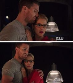 Not sure what's happening here, but they're cute regardless #Olicity #Arrow Haunted 4x05