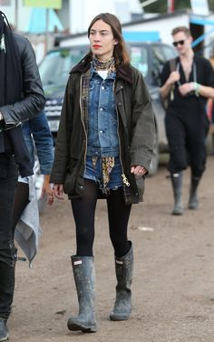 Pin for Later: The Festival Style at Glastonbury Has Never Been Better Alexa Chung