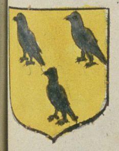 Gabriel BARRÉ, Avocat à Saumur. Porte : d'or, à trois corbeaux de sable, deux et un | N° 245 > Saumur