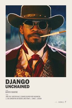 Image of Django Unchained - Minimalist poster - Cinema - Movies and Iconic Movie Posters, Minimal Movie Posters, Minimal Poster, Cinema Posters, Movie Poster Art, Iconic Movies, Cinema Film, Poster Poster, Film Polaroid