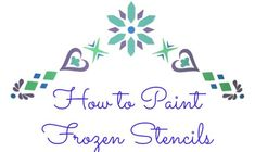 How to paint a Frozen stencil for a Frozen girl's room. It is perfect for an Elsa inspired bedroom. Frozen Girls Room, Frozen Nursery, Frozen Room, Disney Frozen Party, Frozen Birthday Party, Doll Painting, Stencil Painting, Diy Craft Projects, Crafts For Kids