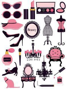 Pink in Fashion - Sticker Printable #sticker#printable#pink#black#glamour#women#beauty#diy#scrapbooktools#candycameraapp