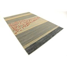 You'll love the Jan Blue/Red/Beige Area Rug at AllModern - With Great Deals on modern Décor + Pillows products and Free Shipping on most stuff, even the big stuff.