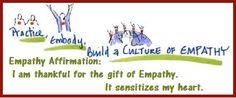 Tuesday's Healing Word - Empathy Affirmation balancedwomensblog.com