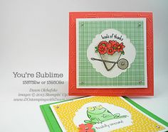 Stampin' Up! You're Sublime cards by Dawn Olchefske #dostamping