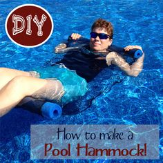 Pool floats can be EXPENSIVE!  After crusting around Amazon and being  shocked at the cost I made my own pool hammock with fabric mesh and a pool  noodle.  Quick project that saved me some cash!  The instructions are easy  to follow!