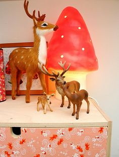 For the girls room - Heico toadstool lamp red