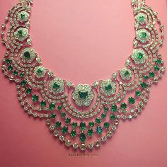@davidmorrisjeweller Our Colombian #emerald and white #diamond Empress necklace