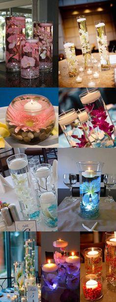 Kwiaty i świece w jednym - piękne dekoracje ślubne!