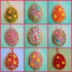 παιχνιδοκαμώματα στου νηπ/γειου τα δρώμενα: αβγά με μαλλί πλεξίματος και αβγό - μετρήματα
