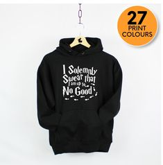 I Solemnly Swear That I Am Up To No Good Harry Potter Hoodie - Black / S
