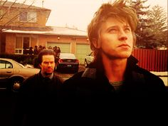Mark Wahlberg and Garrett Hedlund as Bobby Mercer and Jack Mercer in Four Brothers