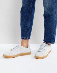 Zapatillas de deporte de ante plateado Court Royale de Nike