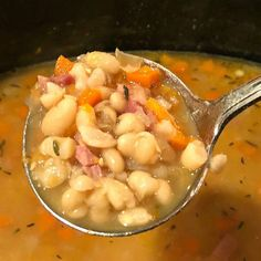 Instant Pot Pinto Beans - A Southern Soul White Bean Ham Soup, White Beans And Ham, Ham Hocks And Beans, White Bean Chili, Ham And Bean Soup, Bean Soup Recipes, Crockpot Recipes, Cooker Recipes, Slow Cooker Bean Soup