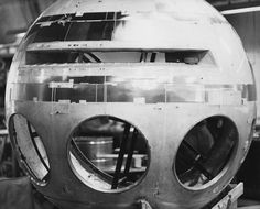 Discovery spacecraft model in early stages of construction for 2001: A SPACE ODYSSEY (1968)
