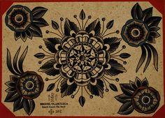 Knock Knock The Devil Tattoo Flash | KYSA #ink #design #tattoo