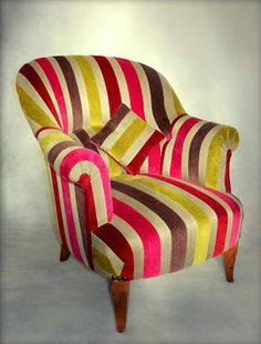 fauteuil voltaire relook chassis or tissu multicolore meubles pinterest recherche. Black Bedroom Furniture Sets. Home Design Ideas