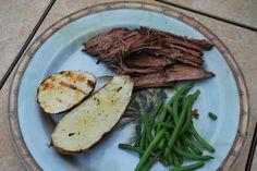 Slow grilled sirloin roast