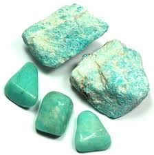 Amazonite: Called the Stone of Courage and the Stone of Truth. It empowers one in the discovery of personal truth and integrity. Powerful protection from EMFs by neutralizing imbalanced energies and grounding the personal energy field