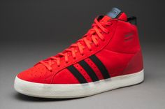 adidas Originals Basket Profi OG - Mens Select Footwear - Hi-Res Red-Black 38af10ae231f