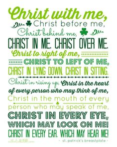 Catholic All Year: Idle Threats, the Miracle of Waffles, St. Patrick's Day Printables, and a Winner St Patrick Quotes, St Patrick Prayer, St Patricks Day Quotes, Saint Patrick, Catholic All Year, Catholic Saints, Catholic Prayers, Catholic Beliefs, Catholic Bible