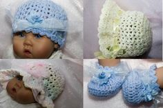 CC42 Cheryls Crochet Bouquet of Baby Bonnets  by cherylscrochet, $8.00
