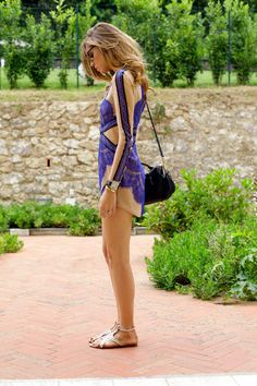 vestido hermoso + sandalias metálicas * Chiara Ferragni from: The fashion salad