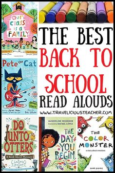 The back to school read alouds we choose are crucial to setting the tone in our classroom for the school year! It's essential to strategically pick books that will benefit our students (mentally, physically, social-emotionally) and set them up for success. Check out my favorite back to school books that highlight rules, emotions, kindness, diversity, community, entertainment and individuality! #BackToSchool #ReadAlouds