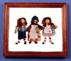 1:12 SCALE MINIATURE BOOK RAGGEDY ANN IN COOKIE LAND MODIFIED DOLLHOUSE SCALE