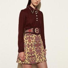 Forest Flower Varsity Dress With Collar