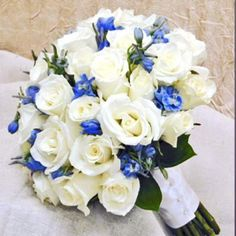 Delphinium n rose bouquet