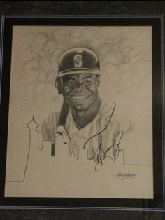 Ken Griffey Jr. signed drawing