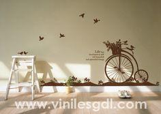 vinil decorativo bicicleta