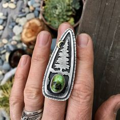 Hey, I found this really awesome Etsy listing at https://www.etsy.com/listing/525074518/large-evergreen-ring-pine-tree-ring