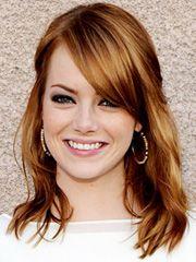 Emma Stone rpund face shape hairstyle