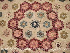 1796 hexagon quilt from the International Quilt Study Center in Lincoln, Nebraska.