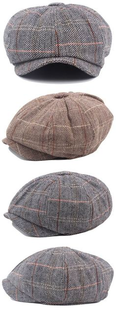 7963ce8724d Mens British Style Gentleman Octagonal Beret Hats Casual Newsboy Painter  Forward Caps Blazere