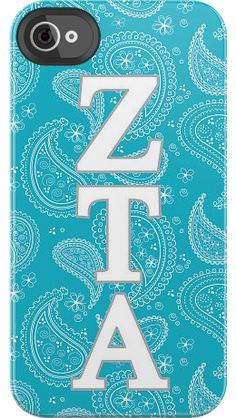 randomly came across this..! Zeta Tau Alpha Paisley by Sorority Life for iPhone 4/4S Deflector